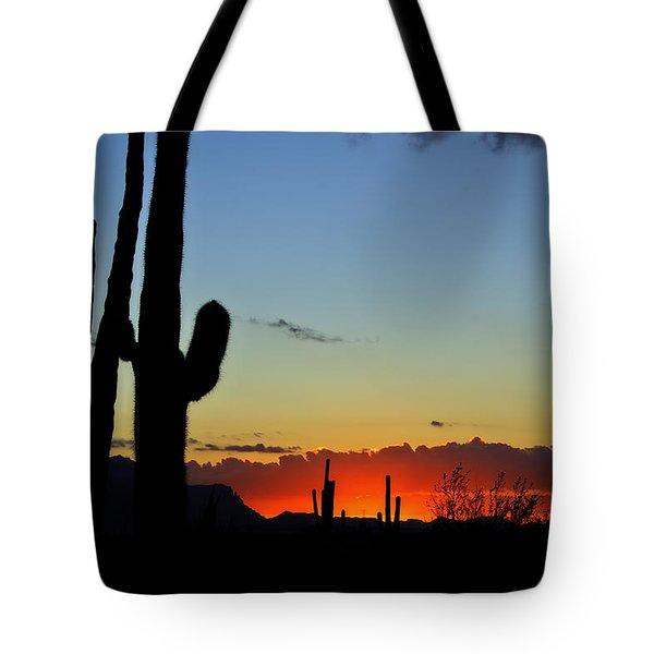 An Arizona Sunrise Tote Bag by Saija  Lehtonen
