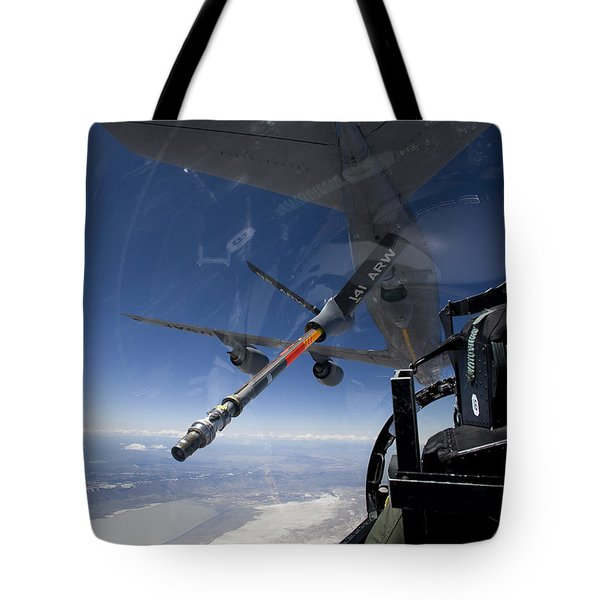 An F-15 Eagle Pulls Into Position Tote Bag by HIGH-G Productions