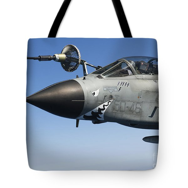 An Italian Air Force Tornado Ids Tote Bag by Gert Kromhout