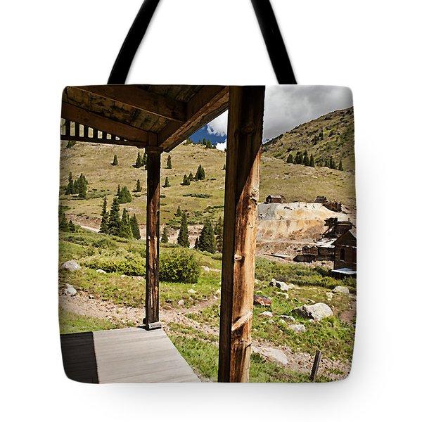 Animas Forks Crosshatch Tote Bag by Melany Sarafis
