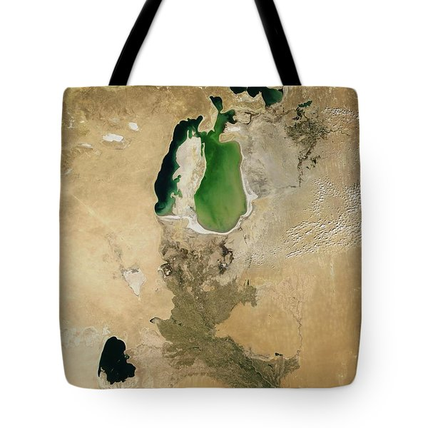 Aral Sea Tote Bag by NASA / Science Source