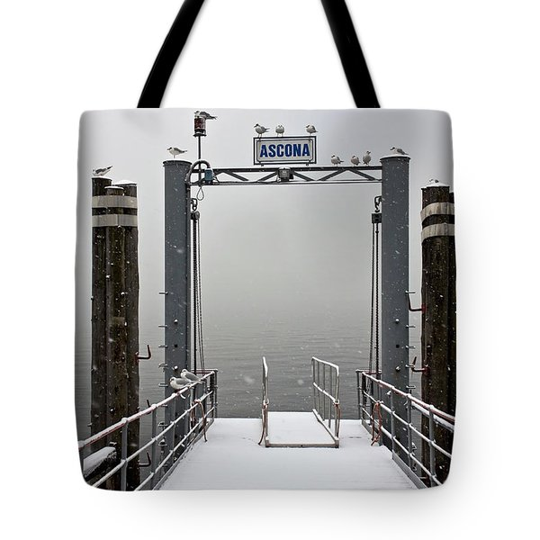 Ascona With Snow Tote Bag by Joana Kruse