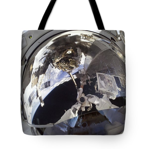 Astronaut Uses A Digital Still Camera Tote Bag by Stocktrek Images