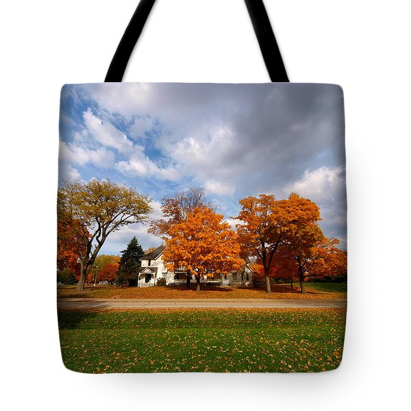 Autumn Is Colorful Tote Bag by Paul Ge
