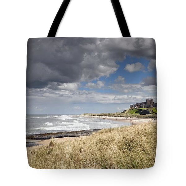 Bamburgh Castle Northumberland, England Tote Bag by John Short