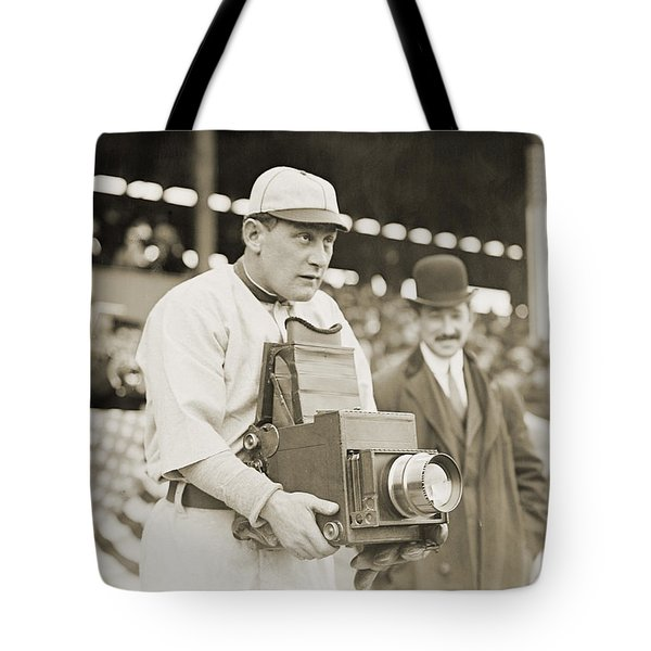 Baseball: Camera, C1911 Tote Bag by Granger