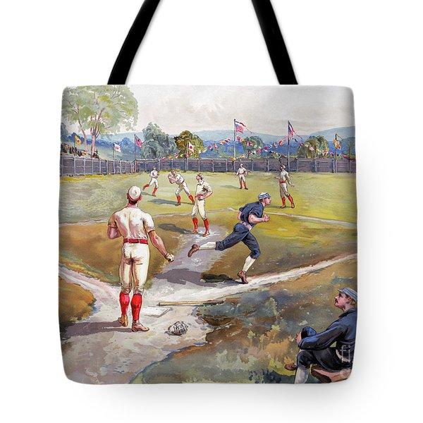 Baseball Game, C1887 Tote Bag by Granger