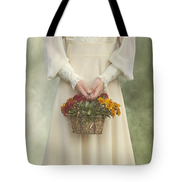 Basket With Flowers Tote Bag by Joana Kruse