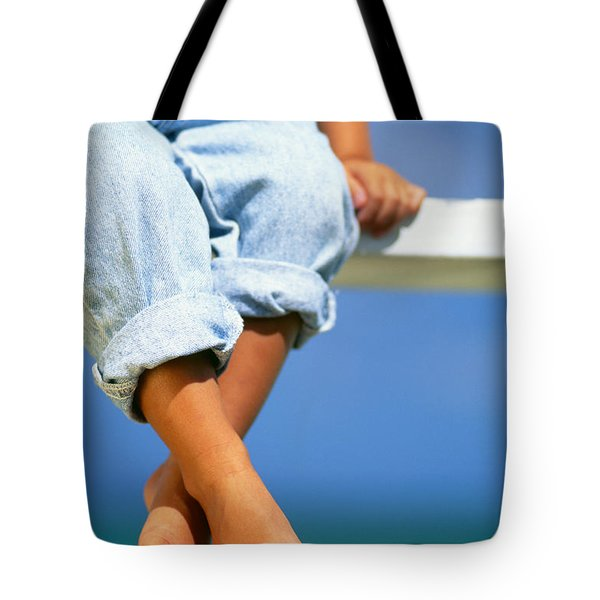 Bench By The Ocean Tote Bag by Dana Edmunds - Printscapes