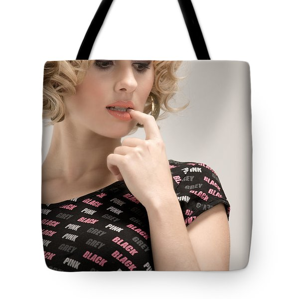 Blond Lady Tote Bag by Ralf Kaiser
