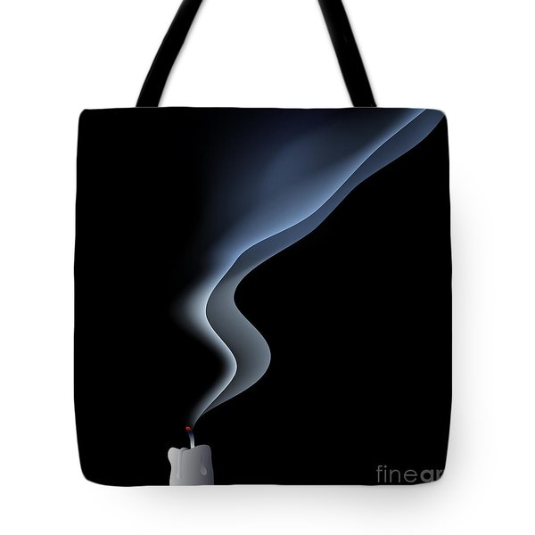Blown Out Candle Tote Bag by Michal Boubin