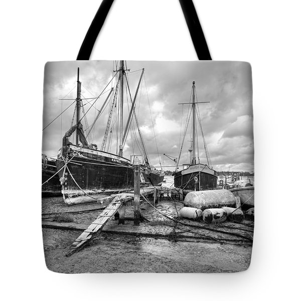 Boats On The Hard Pin Mill Tote Bag by Gary Eason