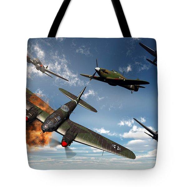 British Hawker Hurricane Aircraft Tote Bag by Mark Stevenson