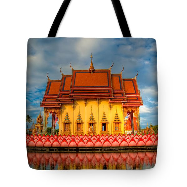 Buddha Temple Tote Bag by Adrian Evans