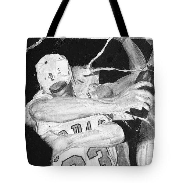 Bulls Celebration Tote Bag by Tamir Barkan