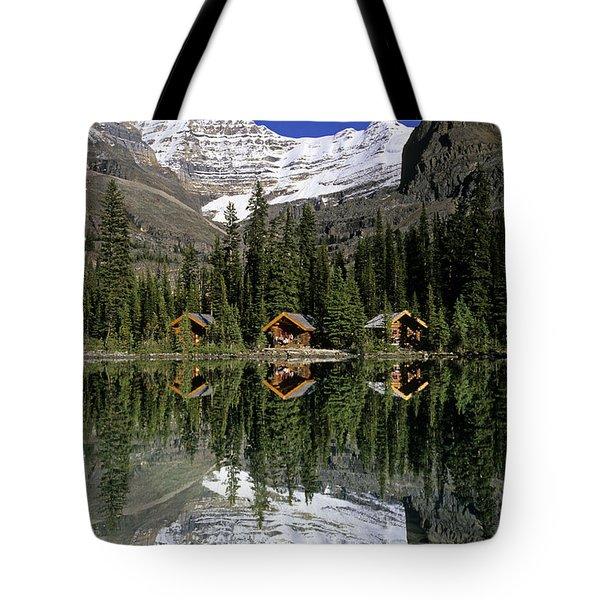 Cabins, Sargents Point, Lake Ohara Tote Bag by John Sylvester