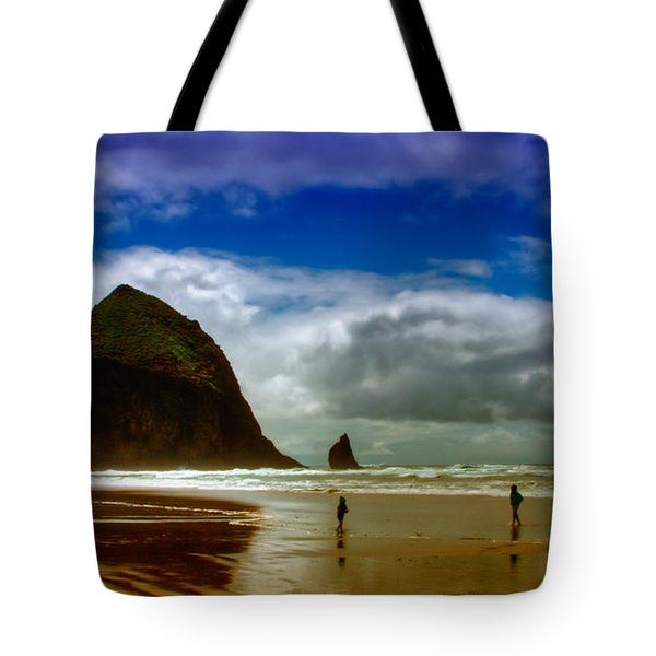 Cannon Beach At Dusk Tote Bag by David Patterson