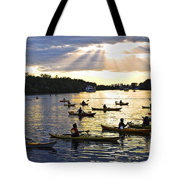 Canoeing Tote Bag by Elena Elisseeva