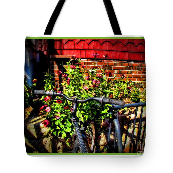 Cape Cod Bike Tote Bag by Joan  Minchak