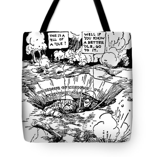 Cartoon: League Of Nations Tote Bag by Granger