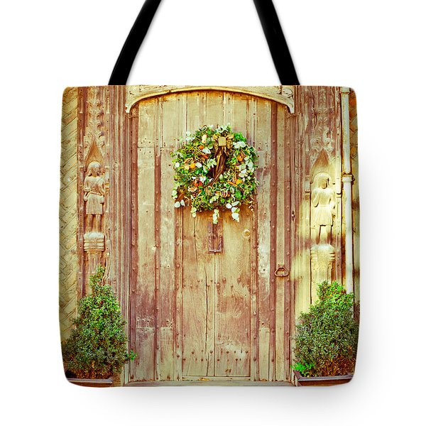 Christmas Wreath Tote Bag by Tom Gowanlock