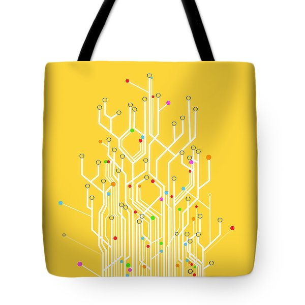circuit board graphic Tote Bag by Setsiri Silapasuwanchai