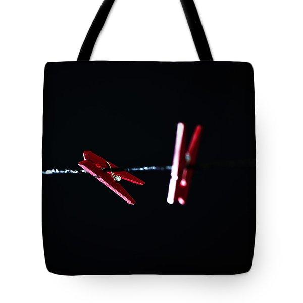 Cloth Pegs Tote Bag by Joana Kruse