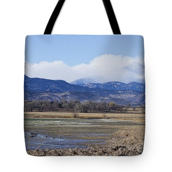 Clouds Hanging On The Continental Divide Colorado Rocky Mountain Tote Bag by James BO  Insogna