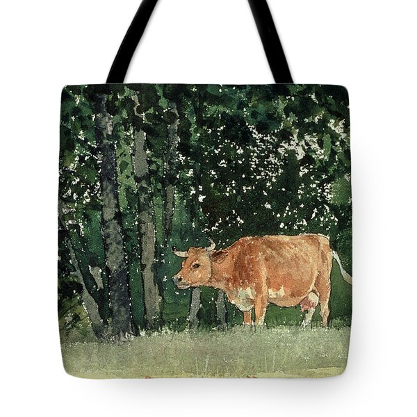 Cow In Pasture Tote Bag by Winslow Homer