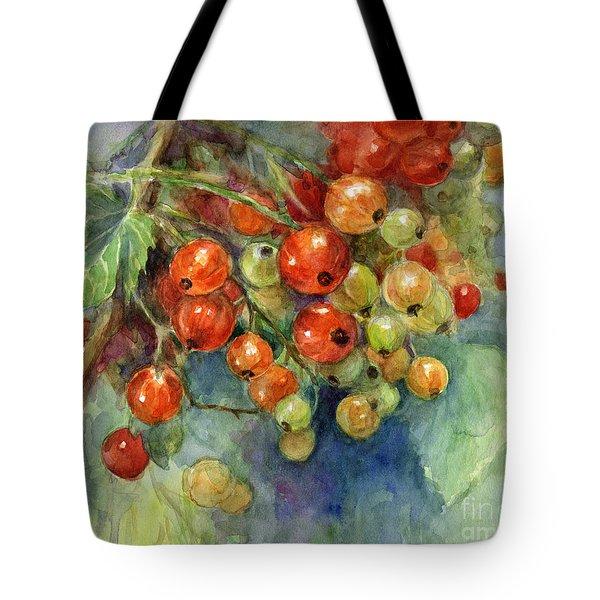 Currants berries painting Tote Bag by Svetlana Novikova