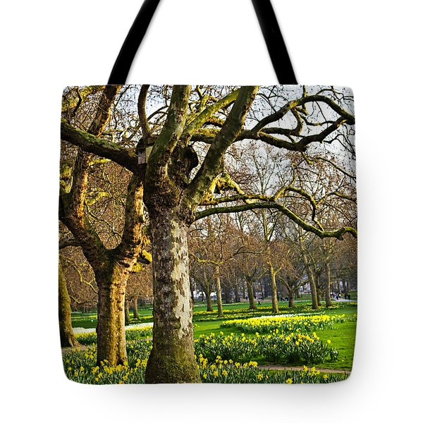 Daffodils In St. James's Park Tote Bag by Elena Elisseeva