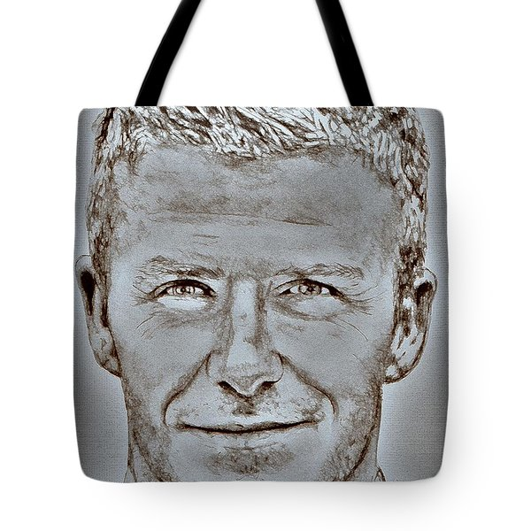David Beckham In 2009 Tote Bag by J McCombie