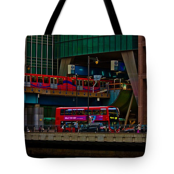 Docklands London Tote Bag by Dawn OConnor