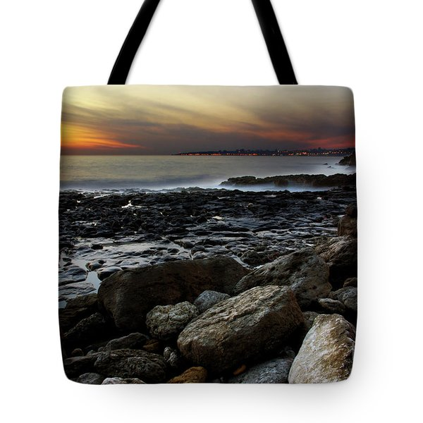 Dramatic Coastline Tote Bag by Carlos Caetano
