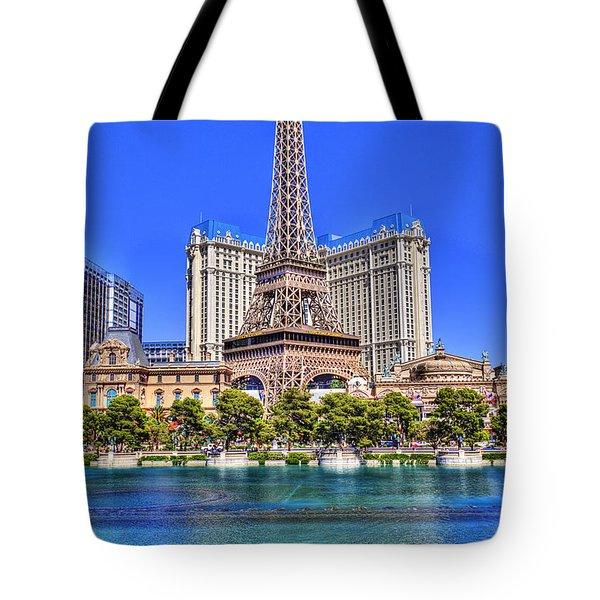 Eiffel Tower Las Vegas Tote Bag by Nicholas  Grunas