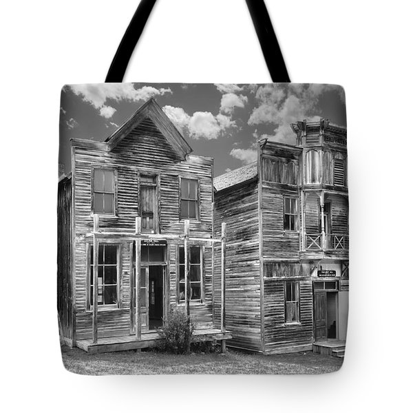 Elkhorn Ghost Town Public Halls - Montana Tote Bag by Daniel Hagerman