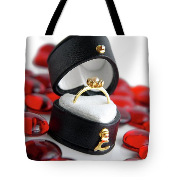 Engagement Ring Tote Bag by Carlos Caetano