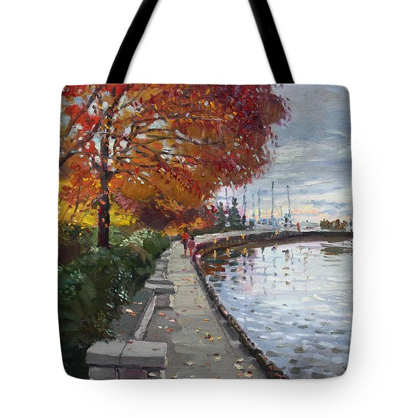 Fall in Port Credit ON Tote Bag by Ylli Haruni