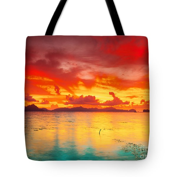 Fantasy Sunset Tote Bag by MotHaiBaPhoto Prints