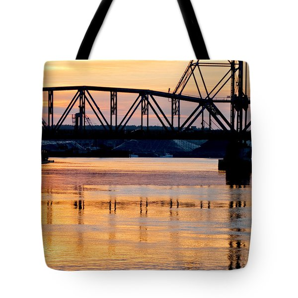 Fire on the Water Tote Bag by Greg Fortier