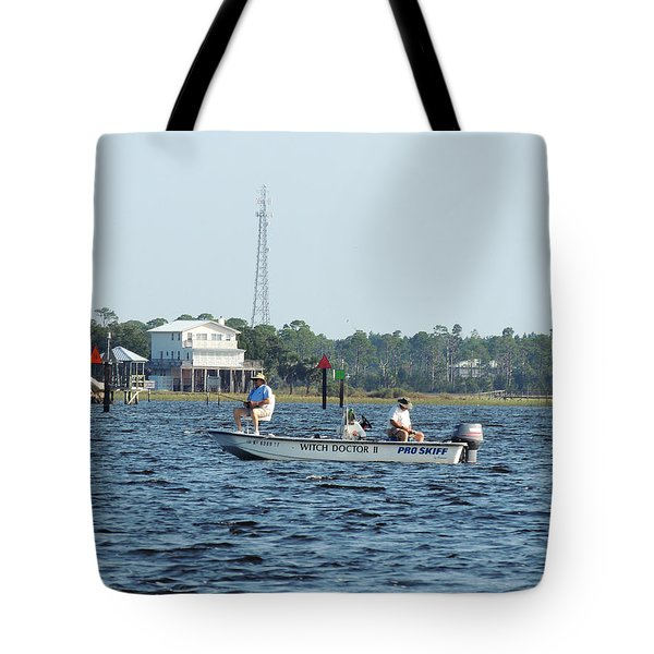 Fishing The Flats Tote Bag by Marilyn Holkham