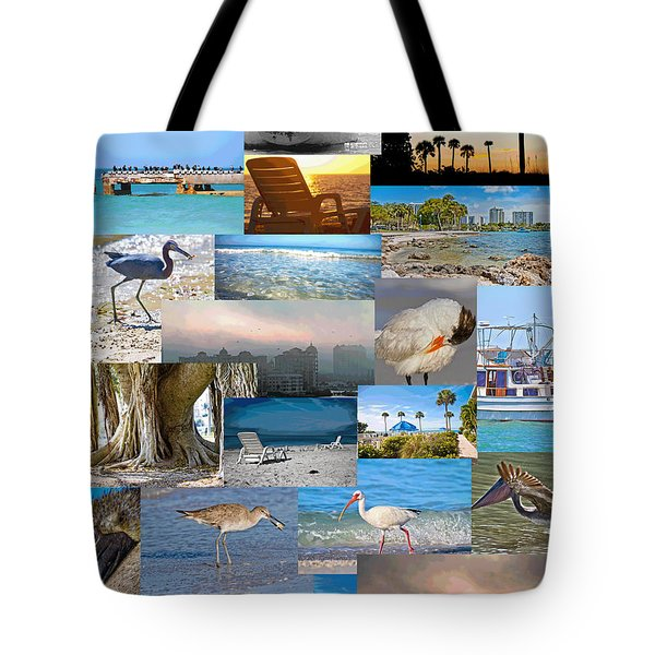 Florida Collage Tote Bag by Betsy Knapp