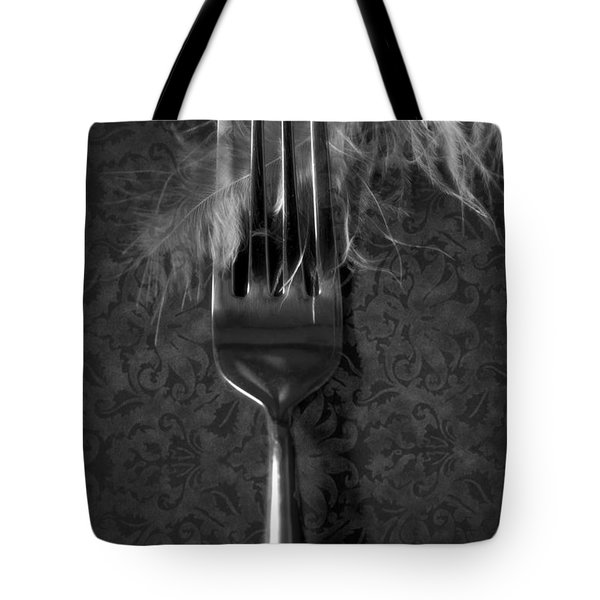 Fork And Feather Tote Bag by Joana Kruse