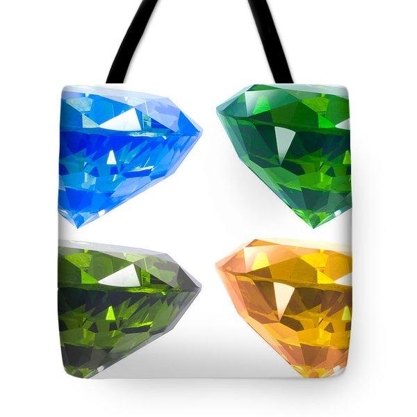 Four diamond Tote Bag by ATIKETTA SANGASAENG