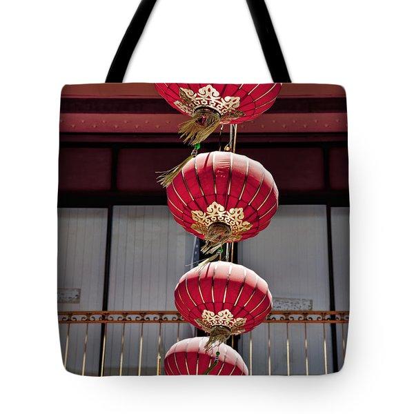 Four Lanterns Tote Bag by Kelley King