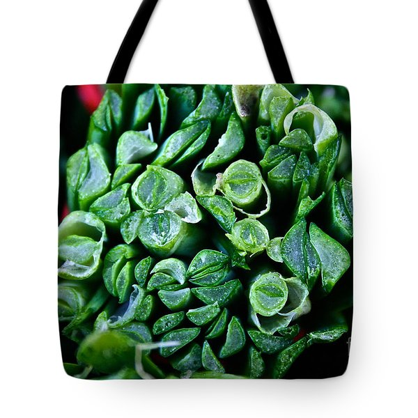 Fresh Chives Tote Bag by Susan Herber