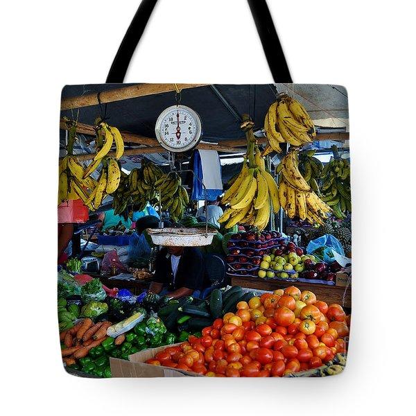 Fruit For Sale Tote Bag by Li Newton