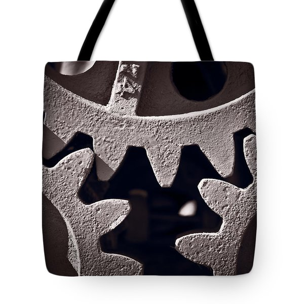 Gears Number 2 Tote Bag by Steve Gadomski