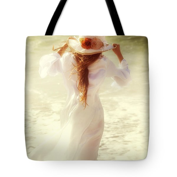 girl with sun hat Tote Bag by Joana Kruse