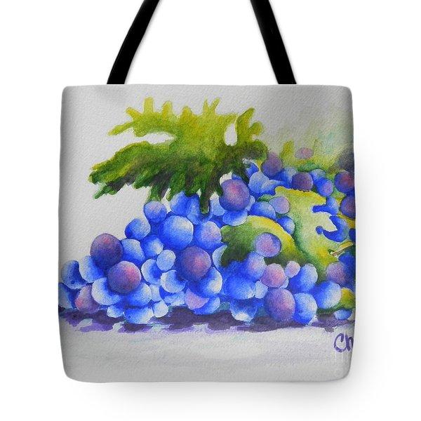 Grapes Tote Bag by Chrisann Ellis